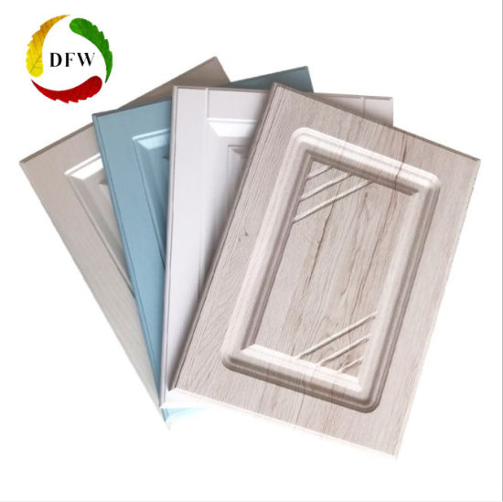 China Professional Processing Pvc Kitchen Cabinet Door With Spray