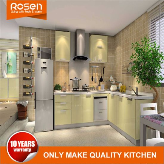 High Gloss Pvc Modular Open Pantry Kitchen Cabinets Furniture