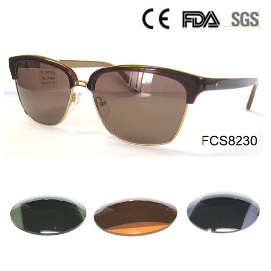 Acetate Sunglass with Metal Frame, Fashionable Sunglass pictures & photos