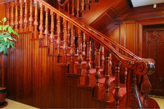 Luxury Red Oak Stair Railing for Australia Market pictures & photos