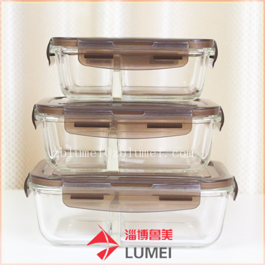Glass Container Food Storage Set Kitchen Box Food Container Kitchen  Organizer with Lids
