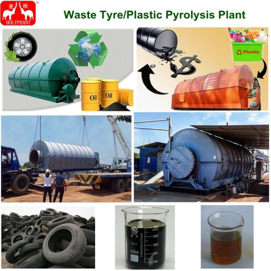 China 3-12t/Batch Waste Rubber Waste Tyre Pyrolysis Plant