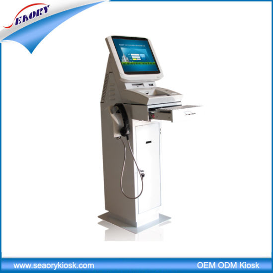 Vertical Touch Screen Intelligent Visitor Management Kiosk pictures & photos
