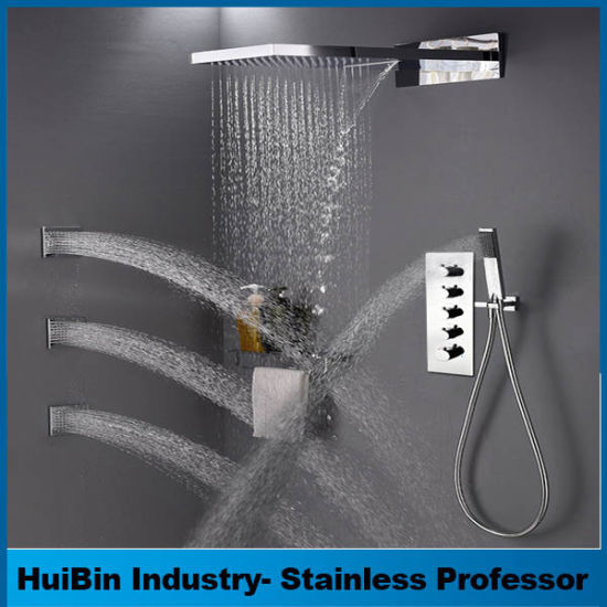 China Luxury Rain Shower Systems 5 Functiuons Wall Mounted Shower ...