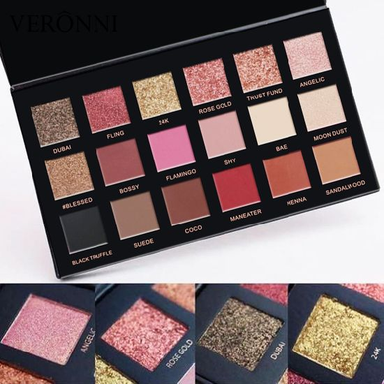 Good Quality Cosmetics Veronni 18 Colors Eyeshadow Palette Private Label pictures & photos