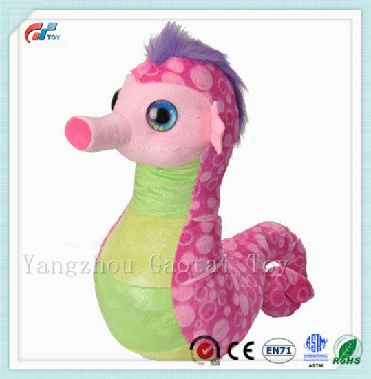 Hot Sale Hot Pink Seahorse Stuffed Toy Plush