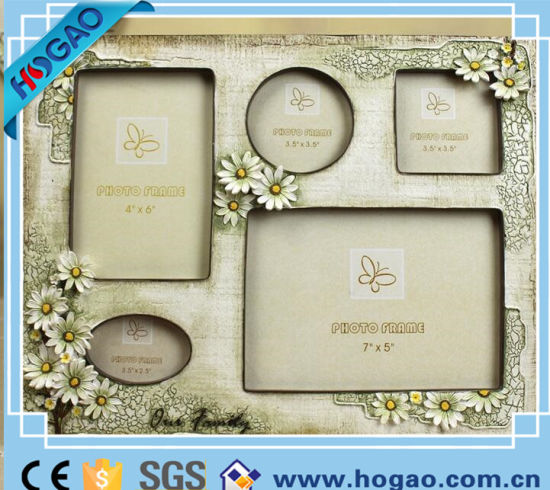 Pastoral Style Resin Photo Frame with Some Photos (HG195) pictures & photos