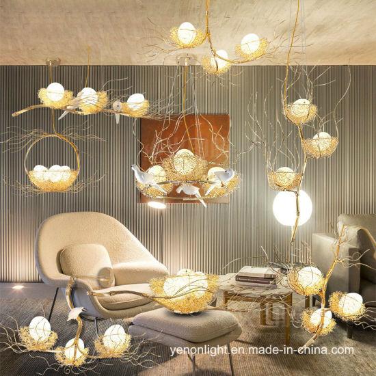 Aluminium Bird Nest Chandelier Lamp