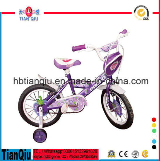 Pink Princess Girls Child Bike Made in China/Factory Direct Supply Children Bicycle/Kids Bike with Bags pictures & photos