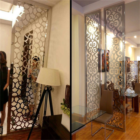 China Custom Design Project Metal Screen Lasercut Room Divider in