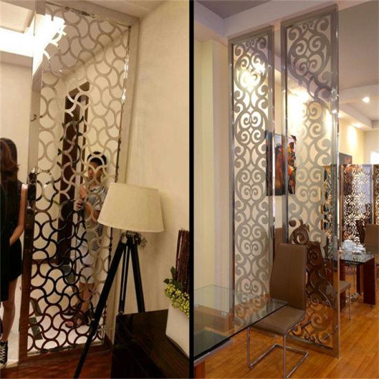 China Custom Design Project Metal Screen Lasercut Room Divider in
