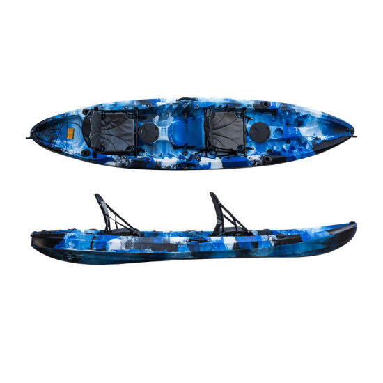 New 3 Persons Plastic Family Fishing Kayak with Seats Accessory