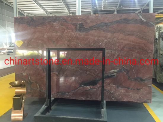 Luxury Stone Ruby Red Gaya Red Granite Marble Slab for Wall and Floor