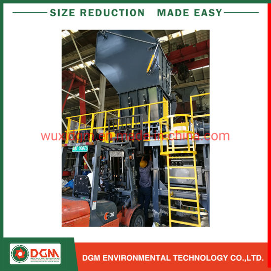 Tire Waste Tire Shredding Rubber Crusher Scrap Shredder Equipment Tyre Recycling Machine