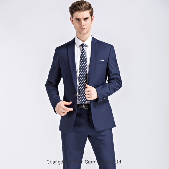 Wholesale 2019 New Design Blue Men S Business Formal Suits China Fashion Men S Office Uniform And Three Piece Price Made In China Com