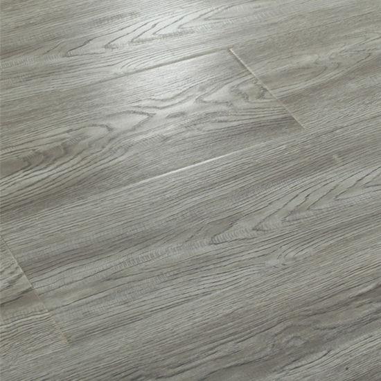 China 12mm Grey Oak Wood Grain, Waterproof Laminate Plank Flooring