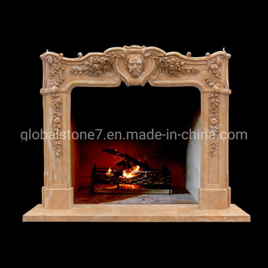Marble Sculpture Carvings Fireplace (GSMF-283) pictures & photos