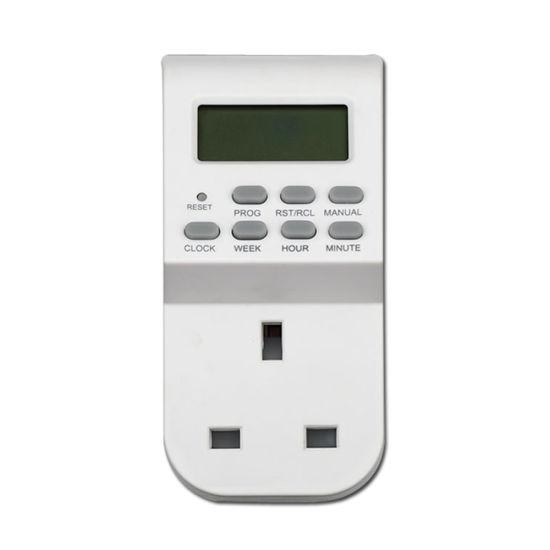 UK Socket to 13A UK Plug Digital Timer Socket