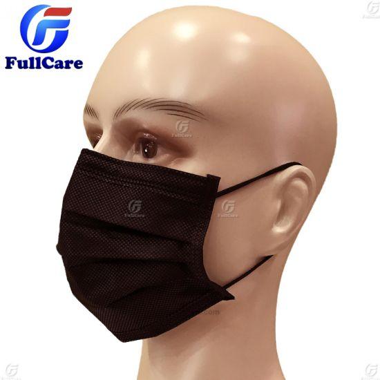 black medical face mask disposable