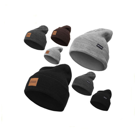 79ed8775361 China High Quality Cheap Leather Patch Beanies