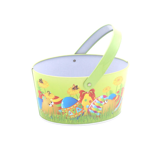 Basket Shape Metal Tin for Easter pictures & photos
