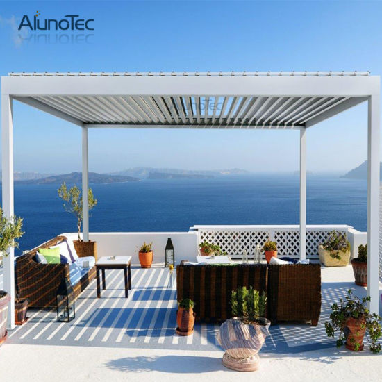Outdoor Aluminium Pergola with Side Blinds for Sale - China Outdoor Aluminium Pergola With Side Blinds For Sale - China