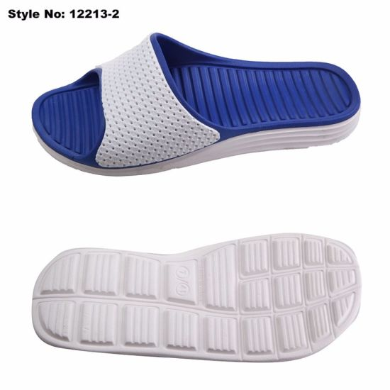 EVA Men Open Toe Holey Colorful Bath Slipper pictures & photos