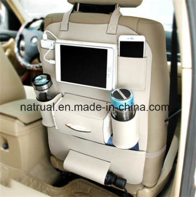 PU Leather Car Backseat Organizer Cup Holder pictures & photos