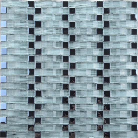 Waterfall Mosaic Tile Modern Bathroom Designs Html on