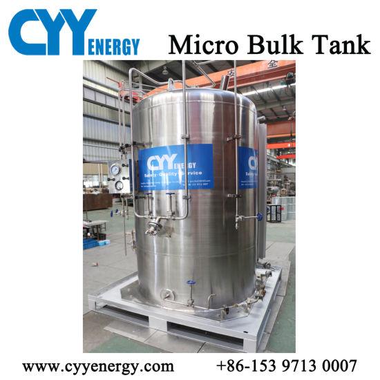 Liquid Oxygen/Nitrogen/Natural Gas/CO2 3m3 Storage Cryogenic Tank