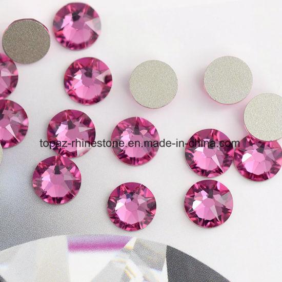5A Best Bling Cutting More Colorful Rose Non Hotfix Glass Rhinestone Flatback Rhinestone (ER-08)