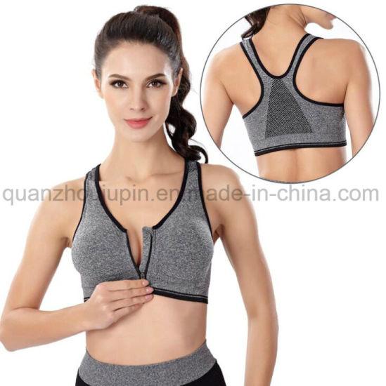 OEM Nylon Zipper Sports Fitness Yoga Bra