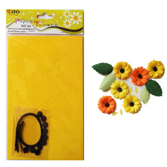 Paper Flower DIY Handmade Material Kit of Sunflower pictures & photos