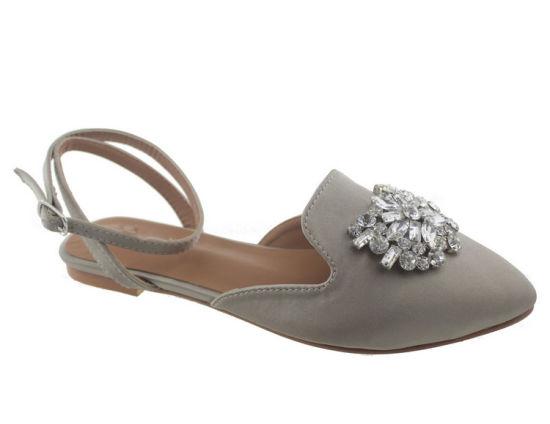 6e174e928c19 Womens Strappy Lace up Ballet Diamond Flats Pumps Dress Sandals Shoes