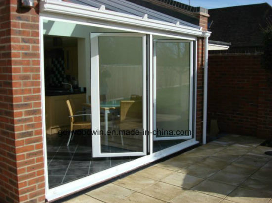 China Double Tempered Glass Interior Folding Doors China Glass