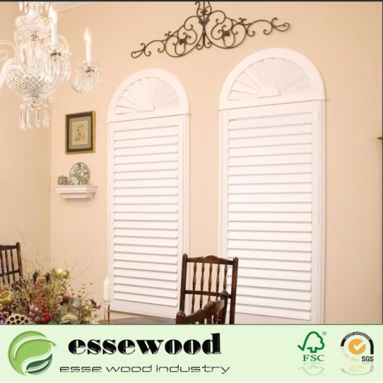 Bwood Irregular Shape Arch Shutter For Home Decoration