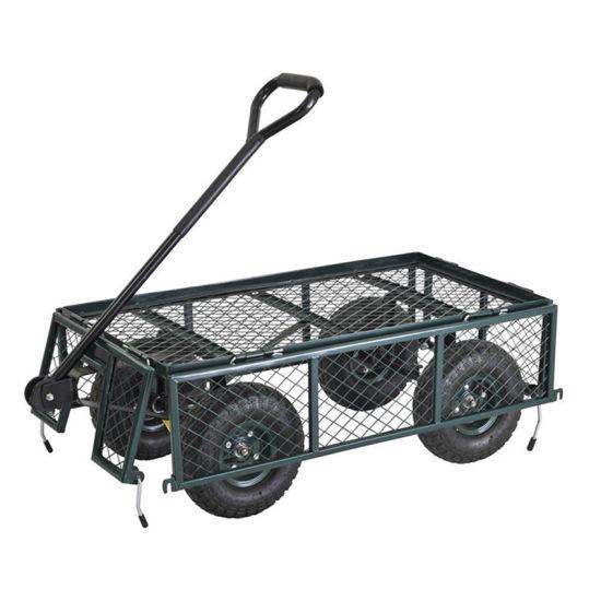 Aluminum Beach Cart with Two Big Wheels Garden Cart Folding Beach Cart
