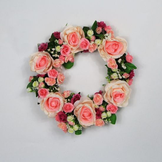 New Style Cheap Fashion Artificial Floral Wreaths for Shop Wall