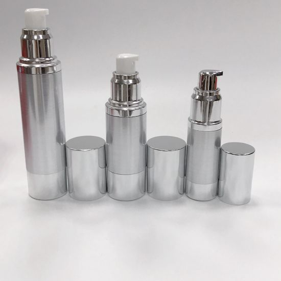 a7d56bd9df68 China Cosmetic Serum Lotion Rotary Airless Pump Bottle 30ml Silver ...