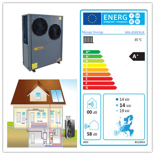 12kw -220kw High Efficiency Heat Pump Air to Water Converter with Europe Energy Labels