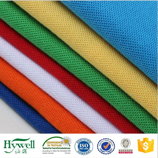 100%Polyester Pique Mesh Fabric pictures & photos