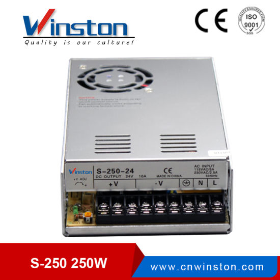 China S-250 SMPS Constant Voltage Switching Power Supply with CE ...