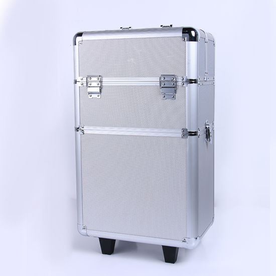 China Factory Wholesale Aluminium Trolley Makeup With Wheels Artist
