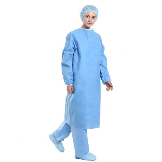 AAMI Level 2 Low Price High Capacity Non-Sterile PP+PE Surgical Gown