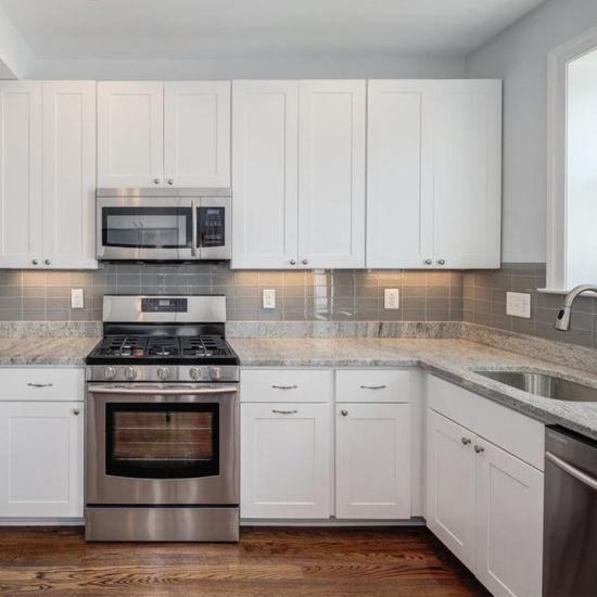 china modular white shaker solid wood kitchen cabinets shenzhen