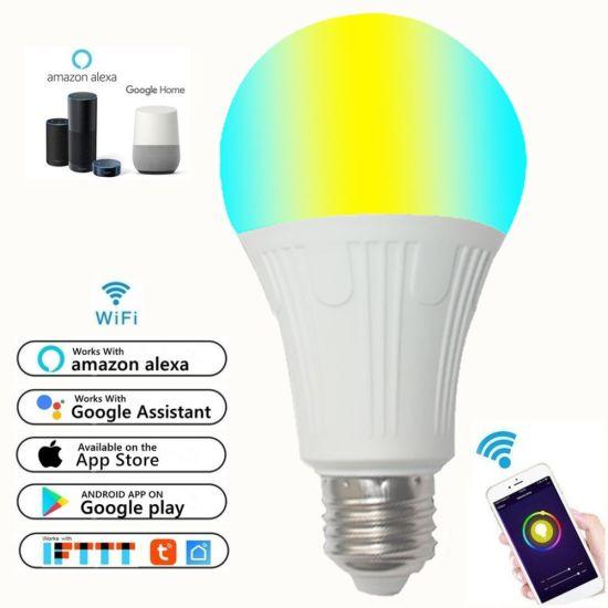 Timethinker Smart Home Wifi Bulb Rgb 7w 9w 11w Led Light Lamp Dimmer Color Work With Alexa Google Remote Control