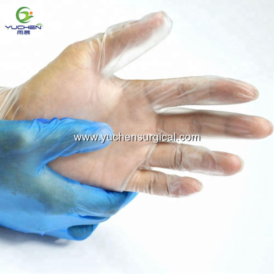 High Quality Disposable Powder Free PVC Vinyl Examination Gloves pictures & photos
