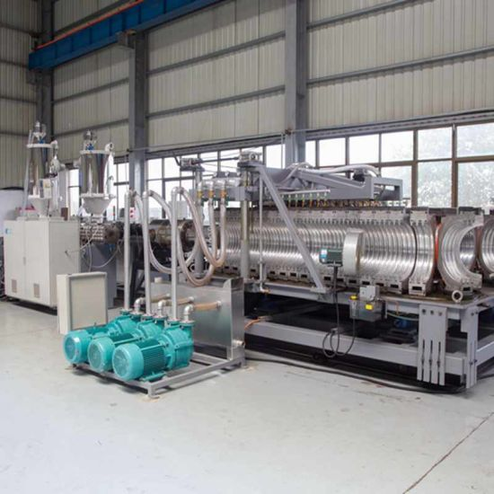 PE Double Wall Corrugated Pipe Making Machine Extrusion Line
