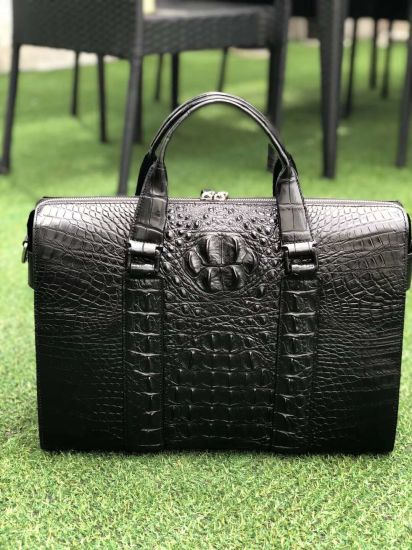 Fashion Style Real Crocodile Leather Business Bag (F6436) pictures & photos