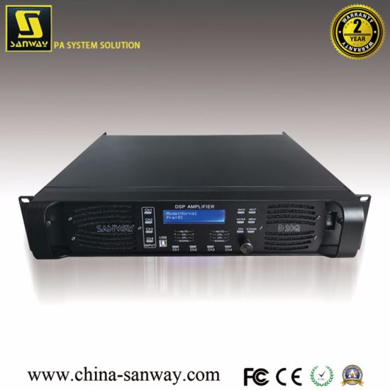 China D10q 4 Channel Professional Digital High Power DSP Amplifier ...